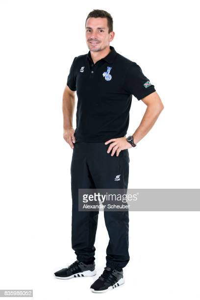 Christian FranzPohlmann of MSV Duisburg poses during the Allianz Frauen Bundesliga Club Tour at MSV Duisburg on August 17 2017 in Duisburg Germany