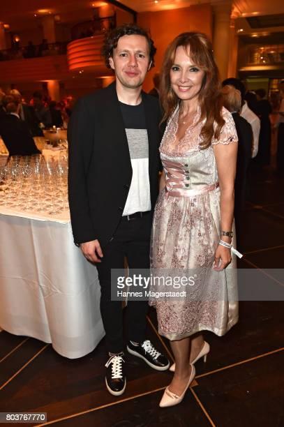 Christian Friedel and Cornelia Corba attends the Bernhard Wicki Award 2017 during the Munich Film Festival 2017 at Bayerischer Hof on June 29 2017 in...