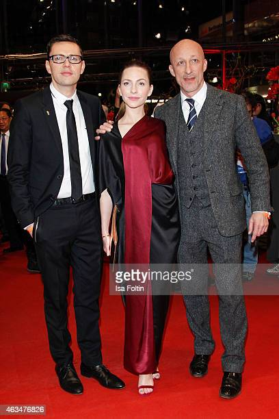 Christian Friedel Katharina Schuettler and Oliver Hirschbiegel attend the Closing Ceremony of the 65th Berlinale International Film Festival on...