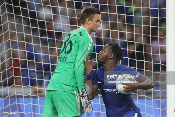 Christian Fruechtl keeper of Bayern Muenchen battles for the ball with Michy Batshuayi of Chelsea during the International Champions Cup 2017 match...