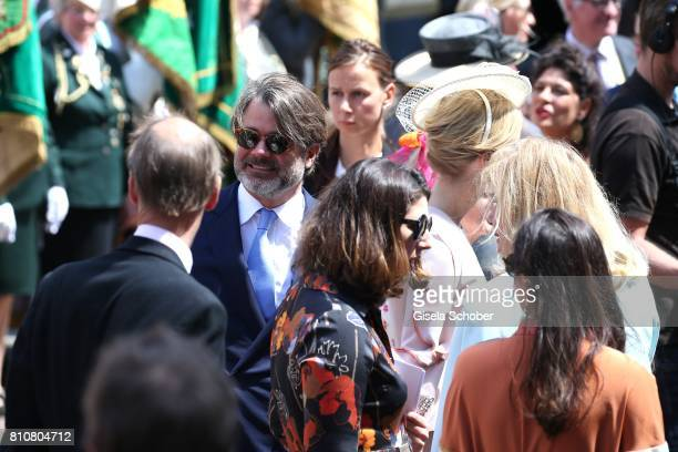 Christian Fuerst zu Fuerstenberg and his wife Jeanette zu Fuerstenberg during the wedding of Prince Ernst August of Hanover jr Duke of...