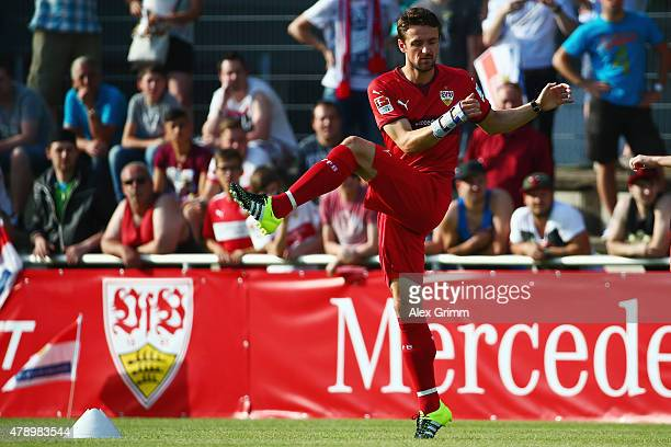 Christian Gentner attends the first training session of VfB Stuttgart at RobertSchlienzStadion on June 29 2015 in Stuttgart Germany