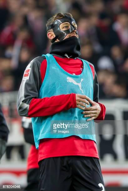 Christian Gentner of Stuttgart looks on prior the Bundesliga match between VfB Stuttgart and Borussia Dortmund at MercedesBenz Arena on November 11...