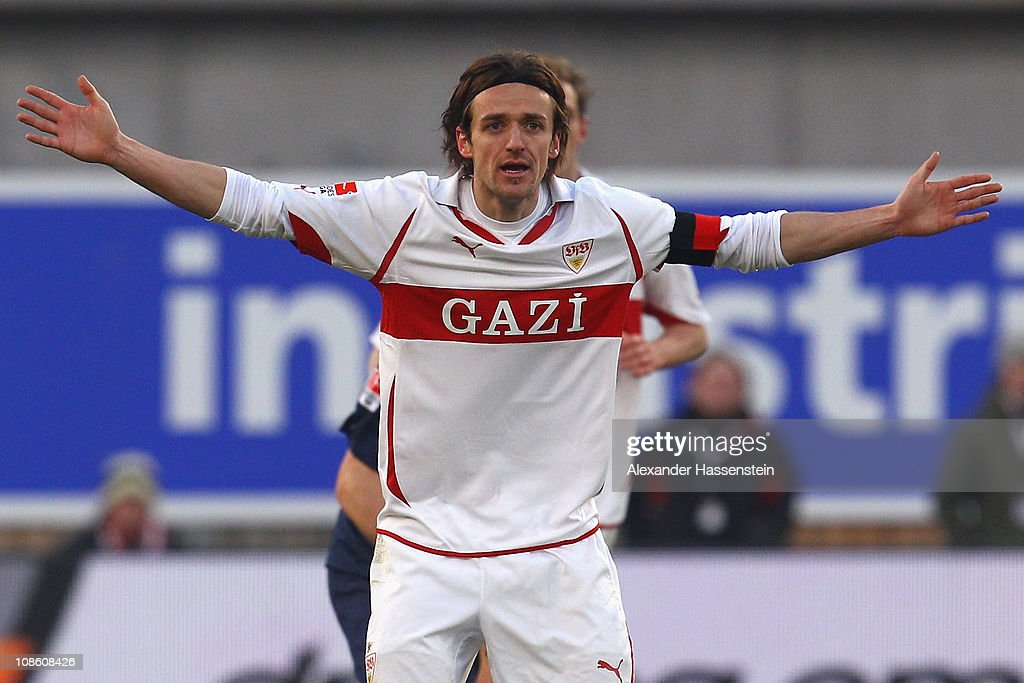 <a gi-track='captionPersonalityLinkClicked' href=/galleries/search?phrase=Christian+Gentner&family=editorial&specificpeople=228707 ng-click='$event.stopPropagation()'>Christian Gentner</a> of Stuttgart reacts during the Bundesliga match between VfB Stuttgart and SC Freiburg at Mercedes-Benz Arena on January 30, 2011 in Stuttgart, Germany.
