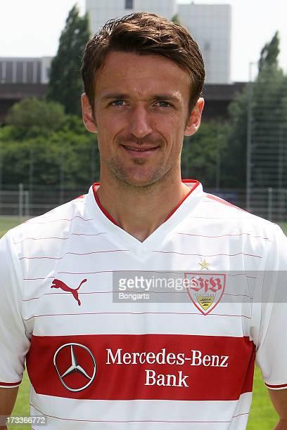 Christian Gentner poses during the VfB Stuttgart team presentation on July 10 2013 in Stuttgart Germany