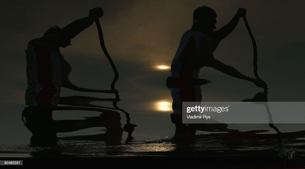 Christian Gille and Thomasz Wylenzek of Germany compete in the Flatwater Men's C2 500m event at the Shunyi Olympic Rowing-Canoeing Park on Day 11 of the Beijing 2008 Olympic Games on August 19, 2008 in Beijing, China.