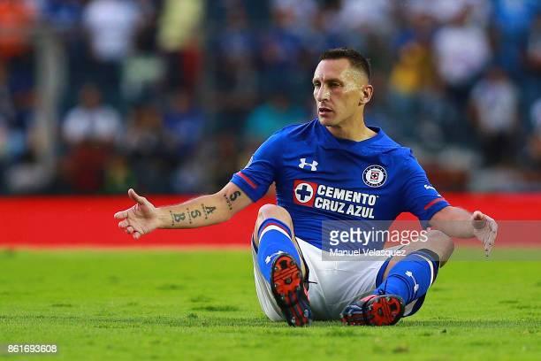 Christian Gimenez of Cruz Azul reacts during the 13th round match between Cruz Azul and America as part of the Torneo Apertura 2017 Liga MX at Azul...