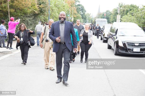 Christian Gregory attends Dick Gregory's Parade Of Life at The Legendary Howard Theatre on September 17 2017 in Washington District of Columbia