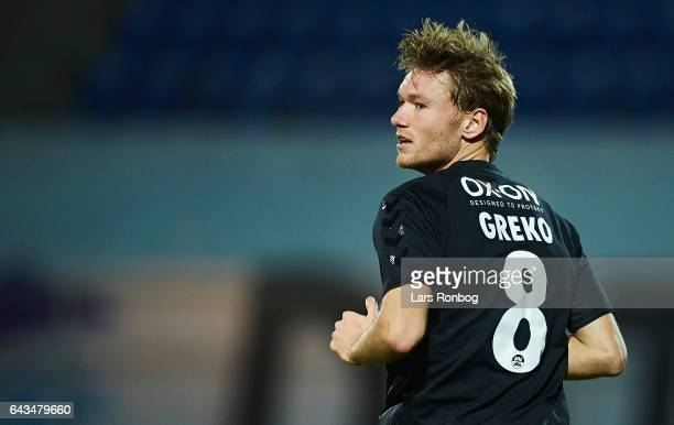 Christian Greko Jakobsen of Sonderjyske in action during the Danish Alka Superliga match between Esbjerg fB and Sonderjyske at Blue Water Arena on...