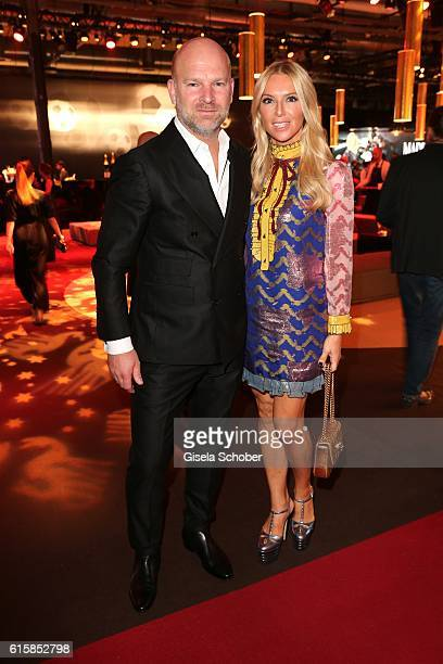 Christian Gries CEO Depot and his wife Sandra Gries during the Tribute To Bambi at Station on October 6 2016 in Berlin Germany