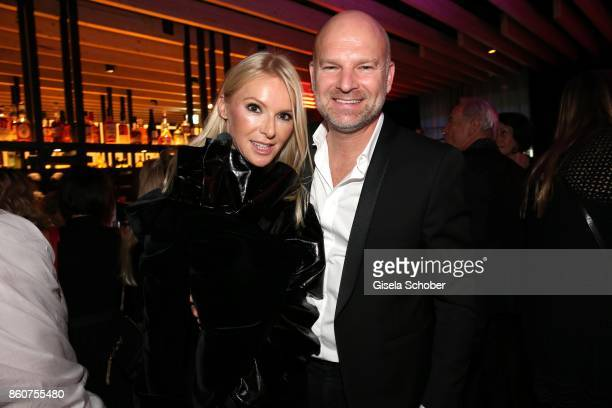 Christian Gries CEO of Depot and his wife Sandra Gries during the grand opening of Roomers IZAKAYA on October 12 2017 in Munich Germany