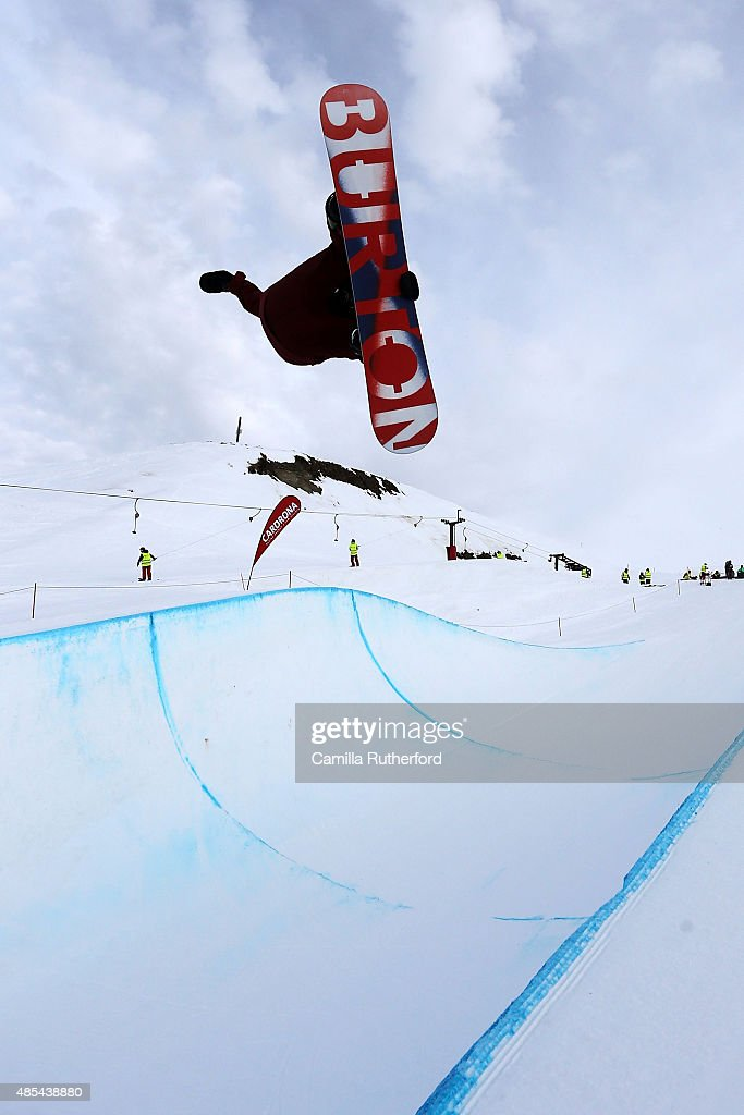 <a gi-track='captionPersonalityLinkClicked' href=/galleries/search?phrase=Christian+Haller&family=editorial&specificpeople=4606567 ng-click='$event.stopPropagation()'>Christian Haller</a> of Switzerland competes in the FIS Snowboard World Cup Halfpipe Qualification during the Winter Games NZ at Cardrona Alpine Resort on August 28, 2015 in Wanaka, New Zealand.
