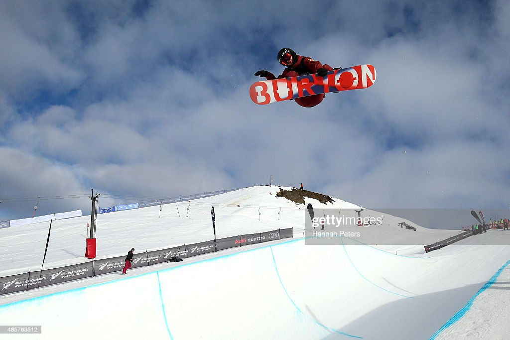 <a gi-track='captionPersonalityLinkClicked' href=/galleries/search?phrase=Christian+Haller&family=editorial&specificpeople=4606567 ng-click='$event.stopPropagation()'>Christian Haller</a> of Switzerland competes in the FIS Snowboard World Cup Halfpipe Finals during the Winter Games NZ at Cardrona Alpine Resort on August 30, 2015 in Wanaka, New Zealand.