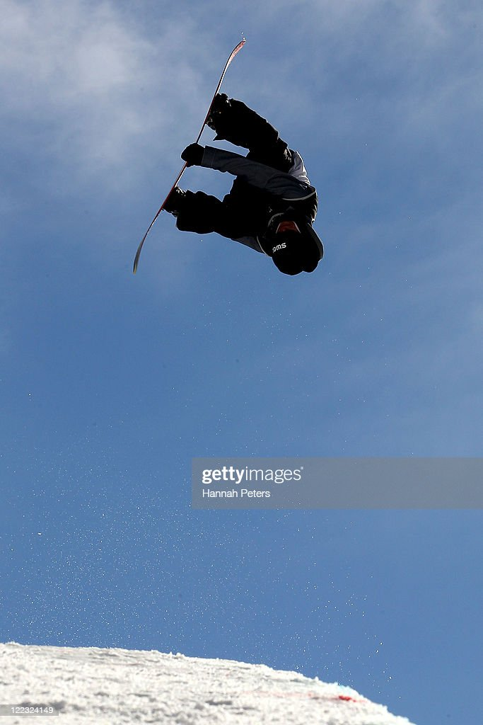 <a gi-track='captionPersonalityLinkClicked' href=/galleries/search?phrase=Christian+Haller&family=editorial&specificpeople=4606567 ng-click='$event.stopPropagation()'>Christian Haller</a> of Switzerland competes in the Snowboard Half Pipe Finals on day 16 of the Winter Games NZ at Cardrona Alpine Resort on August 28, 2011 in Wanaka, New Zealand.