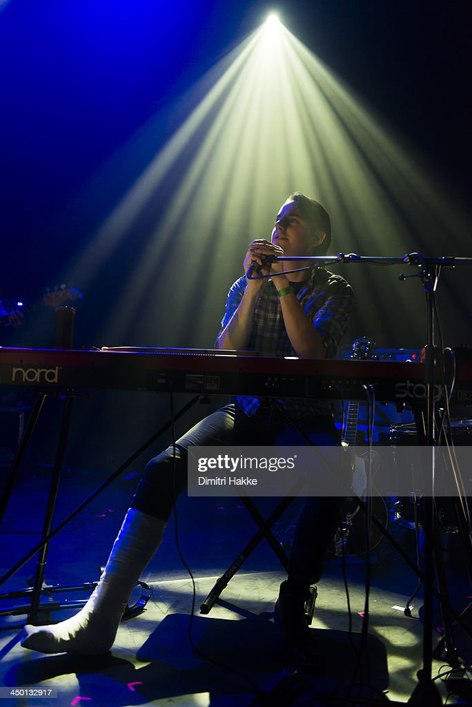 Christian Hardy of The Leisure Society performs on stage at Crossing Border Festival on November 16, 2013 in The Hague, Netherlands.