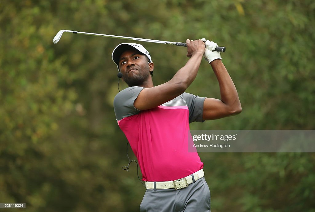 Christian Heavens of the USA in action during a mixed exhibition match prior to the start of the Trophee Hassan II at Royal Golf Dar Es Salam on May 4, 2016 in Rabat, Morocco.