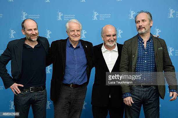 Christian Hincker Andre Dussollier JeanLouis Livi and Hippolyte Girardot attend the 'Life of Riley' photocall during 64th Berlinale International...