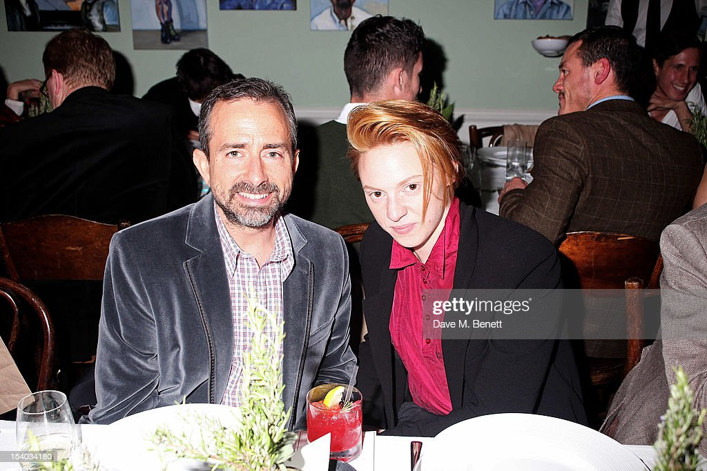 Christian Hodell (L) and <a gi-track='captionPersonalityLinkClicked' href=/galleries/search?phrase=Elly+Jackson&family=editorial&specificpeople=5728540 ng-click='$event.stopPropagation()'>Elly Jackson</a> of La Roux attend the Instanbul'74 dinner celebrating artist Sandro Kopp's 'Mediated Presence' exhibtion at 6 Fitzroy Square on October 12, 2012 in London, England.