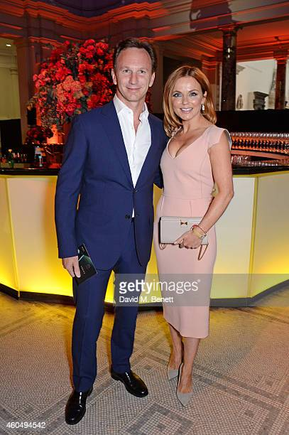 Christian Horner and Geri Halliwell attend The F1 Party in aid of the Great Ormond Street Children's Hospital at the Victoria and Albert Museum on...