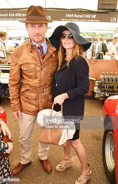 Christian Horner and Geri Horner attend day 3 of the Goodwood Revival at Goodwood on September 11 2016 in Chichester England