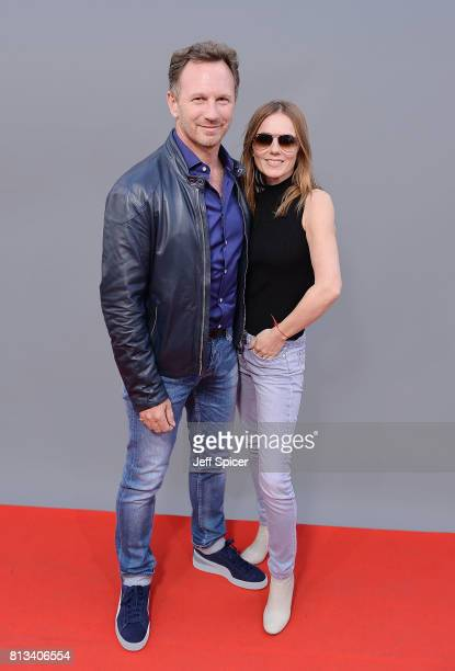 Christian Horner and Geri Horner during F1 Live London at Trafalgar Square on July 12 2017 in London England F1 Live London the first time in Formula...