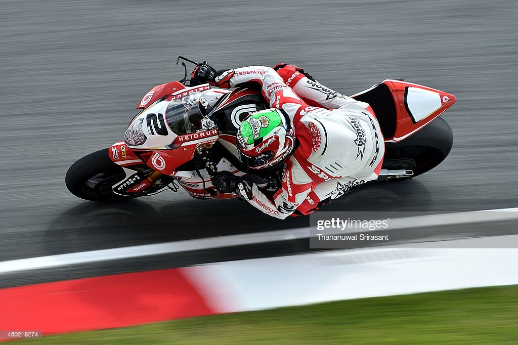 Christian Iddon of England No.2 and TEAM BIMOTA ALSTARE with Bimota BB3 EVO rides during the third practice of round six FIM Superbike World Championship at Sepang Circuit on June 7, 2014 in Kuala Lumpur, Malaysia.