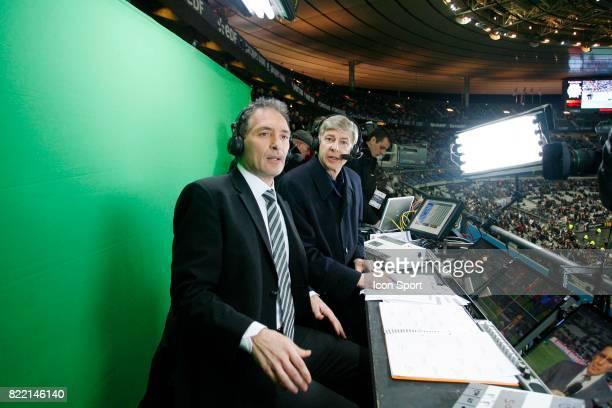 Christian JEAN PIERRE et Arsene WENGER France / Angleterre Match Amical Stade de France