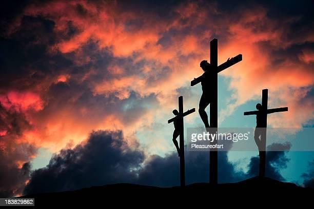 Christian Jésus Christ fils du dieu crusified sur fond en bois