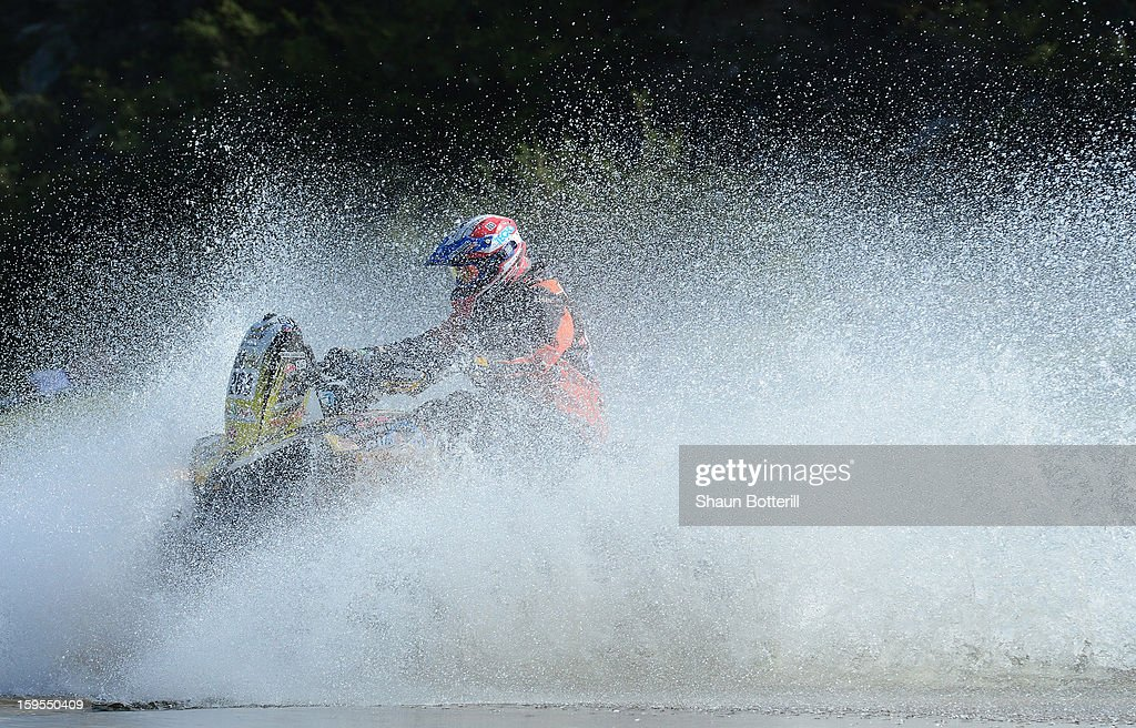 Christian Jose Malaga Carpio of team Brontzan Dakar RT competes in stage 10 from Cordoba to La Rioja during the 2013 Dakar Rally on January 15, 2013 in Cordoba, Argentina.