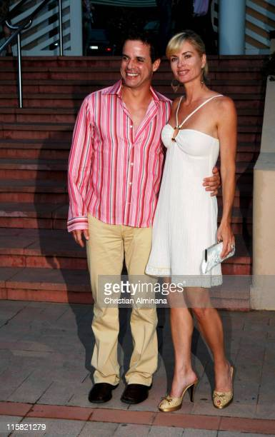 Christian Jules Leblanc and Eileen Davidson during 44th Monte Carlo Television Festival Beach Club Party Arrivals at Monte Carlo Beach Hotel in Monte...