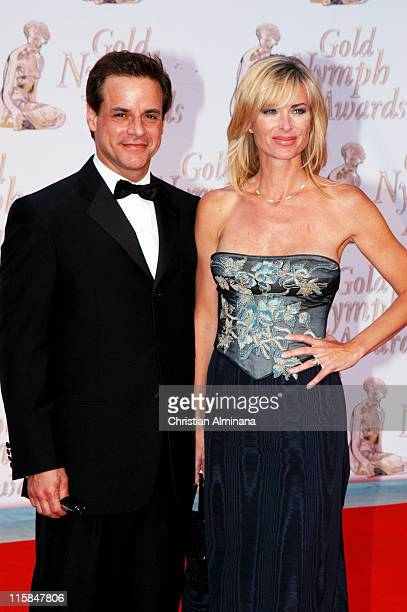 Christian Jules Leblanc and Eileen Davidson during 44th Monte Carlo Television Festival Closing Ceremony Arrivals at Grimaldi Forum in Monte Carlo...