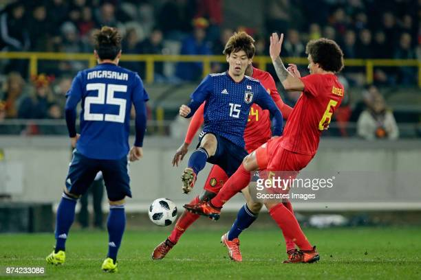 Christian Kabasele of Belgium Kazuki Nagasawa of Japan Axel Witsel of Belgium during the International Friendly match between Belgium v Japan at the...
