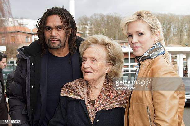 Christian Karambeu Bernadette Chirac and singer Lorie arrive at Hospital Raymond Poincare to launch the 'Pieces Jaunes' 23rd Edition Campaign Launch...