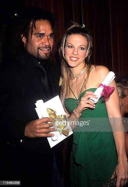 Christian Karembeu and Lorie during 2006 The Best Awards Ceremony 30th Edition at Royal Monceau Hotel in Paris France