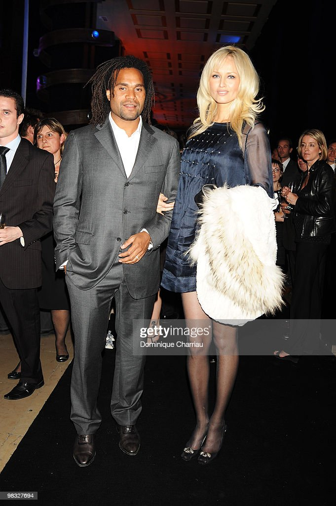 Christian Karembeu and wife Adriana Karembeu attends the Launch Party for the Ingenieur Automatic Edition Zinedine Zidane watch, held at Palais de Chaillot, on June 16, 2008 in Paris, France.