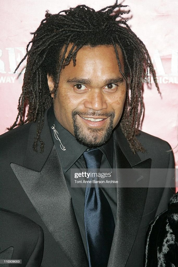 <a gi-track='captionPersonalityLinkClicked' href=/galleries/search?phrase=Christian+Karembeu&family=editorial&specificpeople=228704 ng-click='$event.stopPropagation()'>Christian Karembeu</a> during 'Cabaret,' Le Musical de Broadway Live Premiere - Arrivals at Les Folies Bergeres in Paris, France.