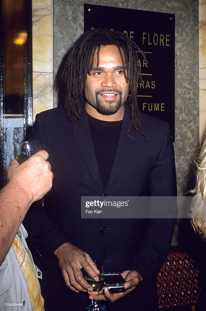 <a gi-track='captionPersonalityLinkClicked' href=/galleries/search?phrase=Christian+Karembeu&family=editorial&specificpeople=228704 ng-click='$event.stopPropagation()'>Christian Karembeu</a> during The Cafe De Flore 2005 Award - November 8, 2005 at Cafe de Flore in Paris, France.