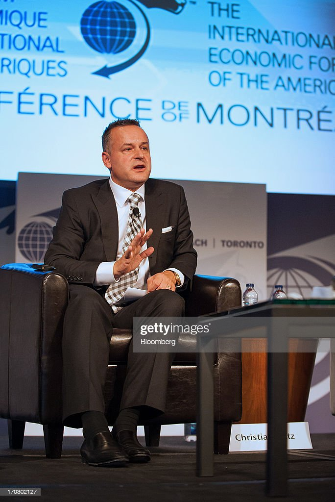 Christian Katz, chief executive officer of SIX Swiss Exchange Ltd., speaks during the International Economic Forum Of The Americas' Conference Of Montreal in Montreal, Quebec, Canada, on Monday, June 10, 2013. The Conference of Montreal brings together Heads of State, the private sector, international organizations and civil society to discuss major issues concerning economic globalization, focusing on the relations between the Americas and other continents. Photographer: David Vilder/Bloomberg via Getty Images