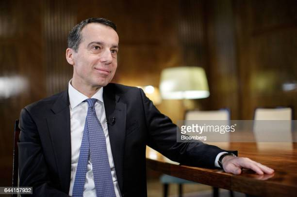 Christian Kern Austria's chancellor pauses during a Bloomberg Television interview in Vienna Austria on Thursday Feb 23 2017 The UKs withdrawal from...