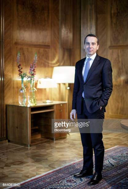 Christian Kern Austria's chancellor poses for a photograph following a Bloomberg Television interview in Vienna Austria on Thursday Feb 23 2017 The...