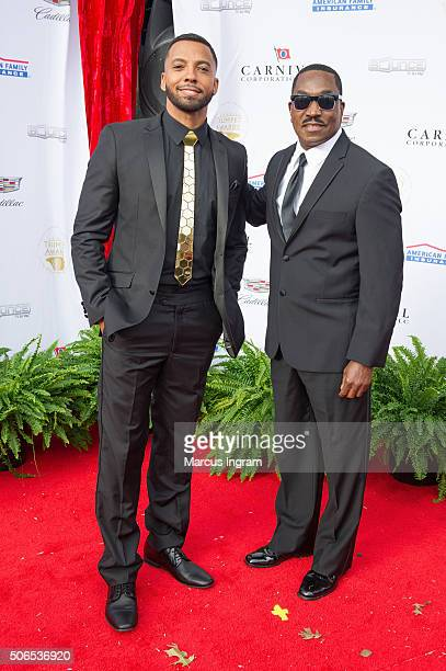 Christian Keyes and Clifton Powell attend the 2016 Trumpet Awards on January 23 2016 in Atlanta Georgia