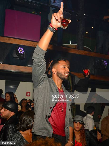 Christian Keyes attends an MLK celebration at Gold Room on January 17 2016 in Atlanta Georgia