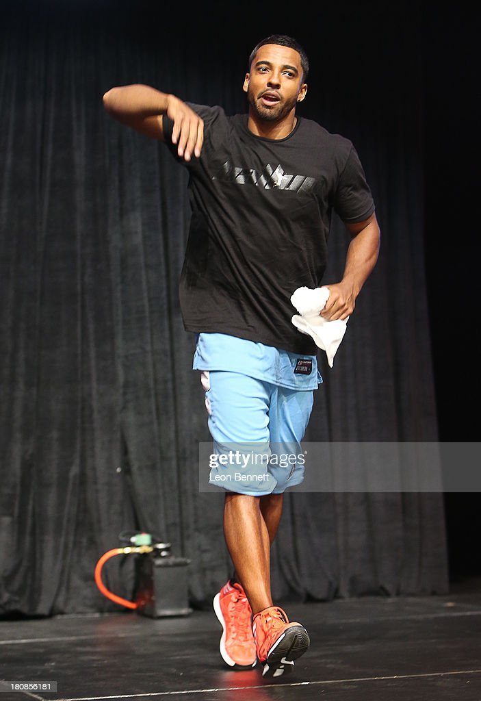 Christian Keys attends the Ball Up 'Search For the Next' Tour Celebrity Game at Megafest on August 31, 2013 in Dallas, United States.