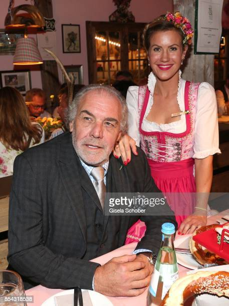 Christian Kohlund and Wolke Hegenbarth during the Oktoberfest at Theresienwiese on September 26 2017 in Munich Germany