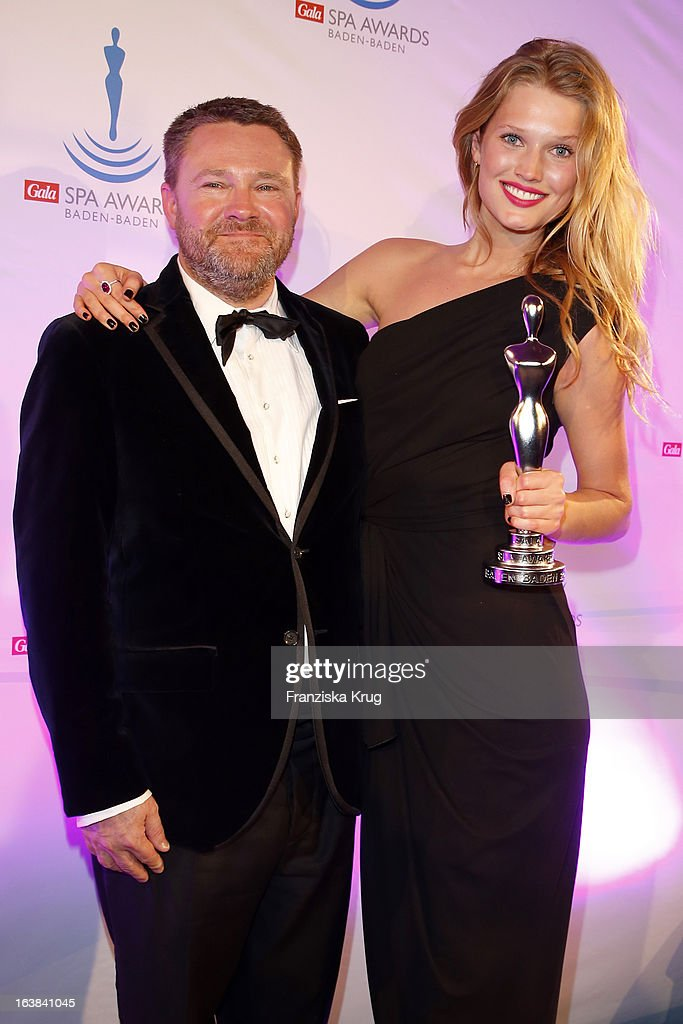 Christian Krug and Toni Garrn attend the Gala Spa Award 2013 at the Brenners Park Hotel on March 16, 2013 in Berlin, Germany.