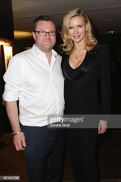 Christian Krug and Veronica Ferres attend the Gala Star Night during the 63rd Berlinale International Film Festival at the Stue Hotel on February 9...