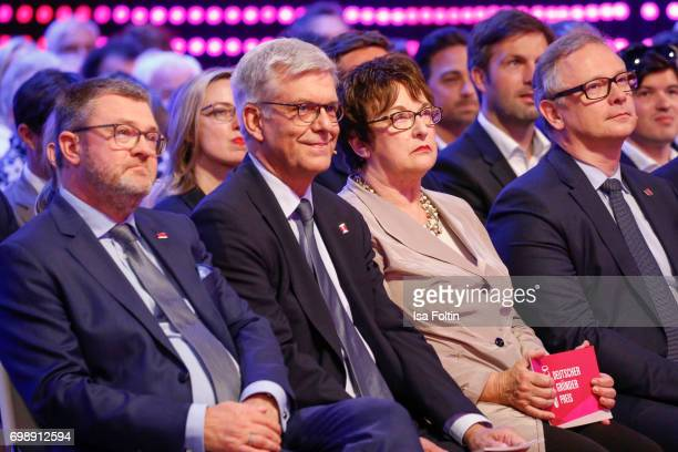 Christian Krug Thomas Bellut German politician Brigitte Zypries and Georg Fahrenshon attend the Deutscher Gruenderpreis on June 20 2017 in Berlin...