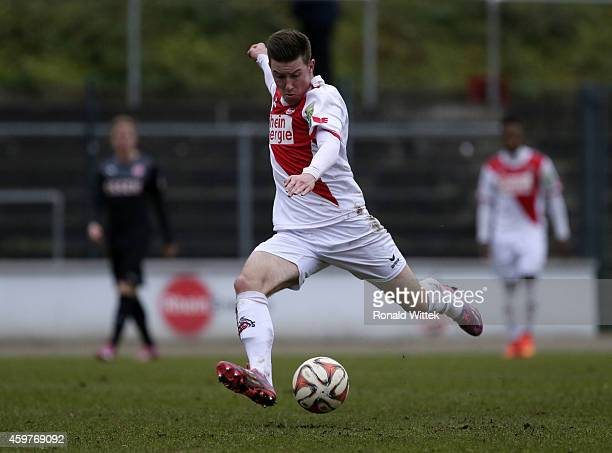 Christian Kuehlwetter of Koeln runs with the ball during the Regionalliga West match between 1 FC Koeln II and RotWeiss Essen at FranzKremerStadion...