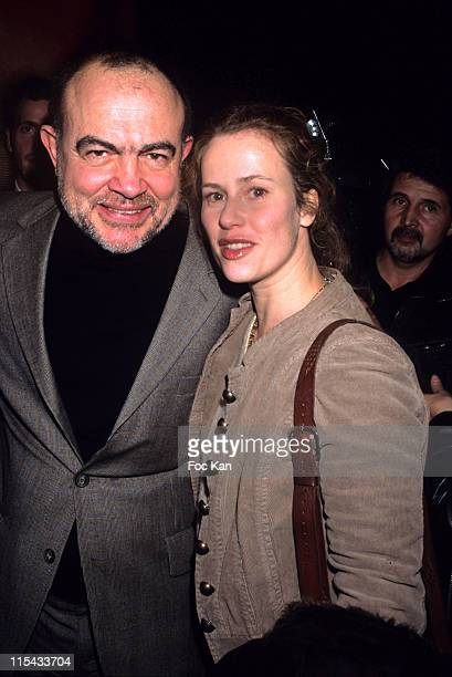 Christian Lacroix and Florence Darel during Paris Fashion Week Autumn/Winter 2006 Ready to Wear Christian Lacroix Front Row at Ecole des Beaux Arts...