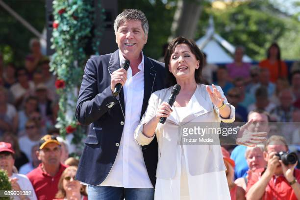 Christian Lais and Ute Freudenberg in perform in the ARD Live TV Show 'Immer wieder Sonntags' in Rust at the EuropaPark on May 28 2017 in Rust Germany